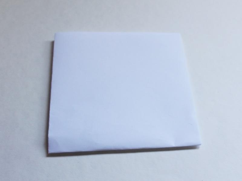 A piece of scrap paper.