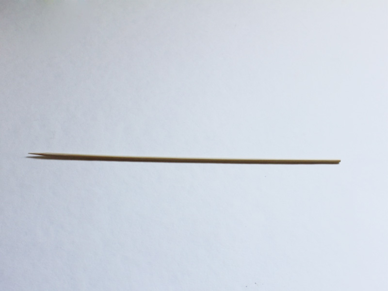 A bamboo skewer