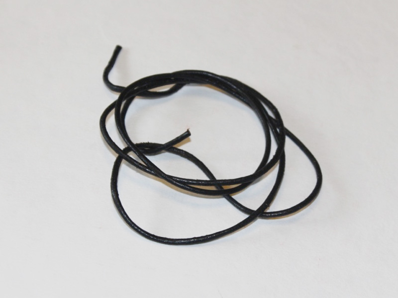 a piece of leather jewelry cord