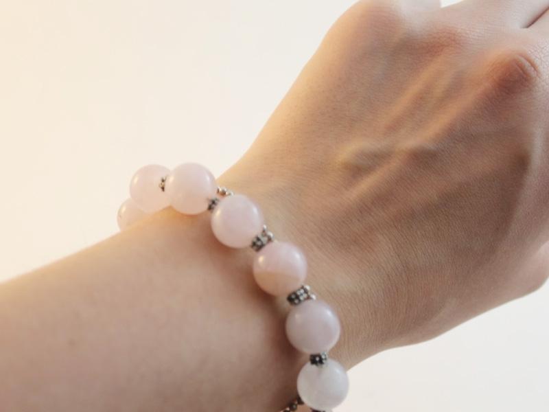 Valentine's Day Rose Quartz Bracelet