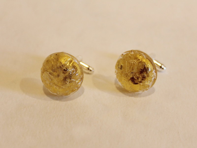 cufflinks made from vintage clip on earrings